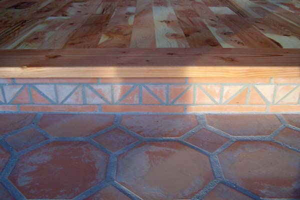 saltillo tiles meet hardwood