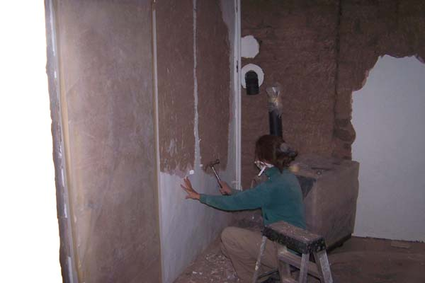 adobe wall old plaster demo