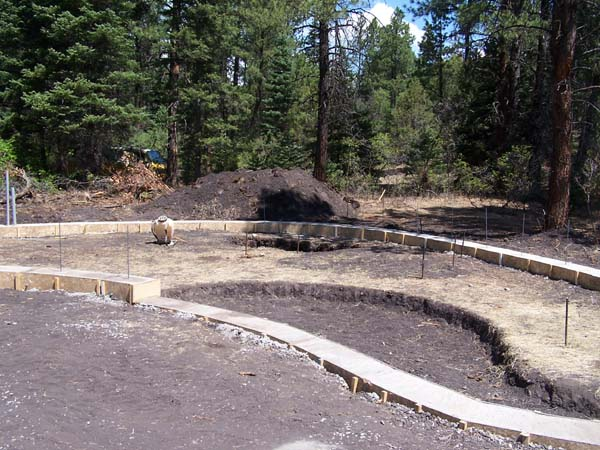 french drain rubble trench