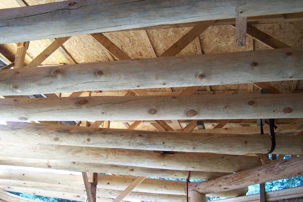 structural vigas for straw bale