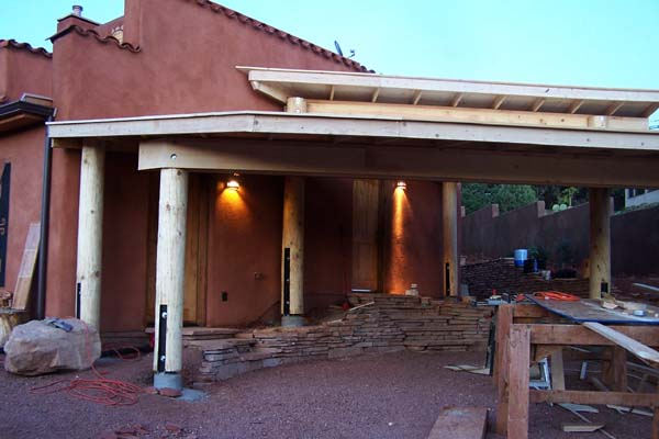 side view tiered carport