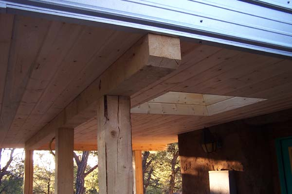 wood ceiling small kitchen add-on