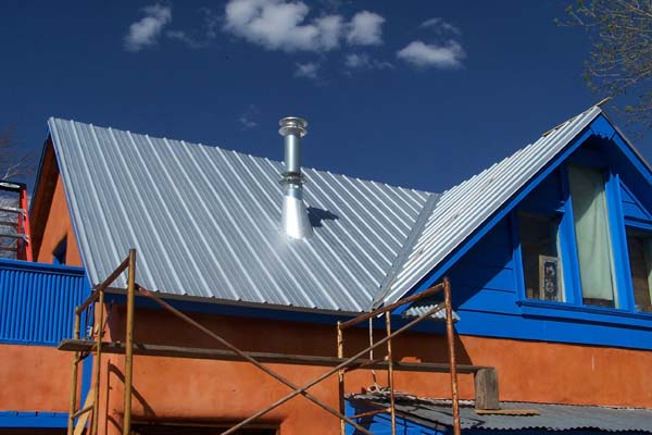 New roof old adobe home earthen touch natural builders for Adobe roof