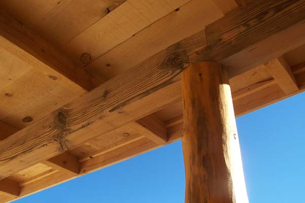 timber framed-notched joint