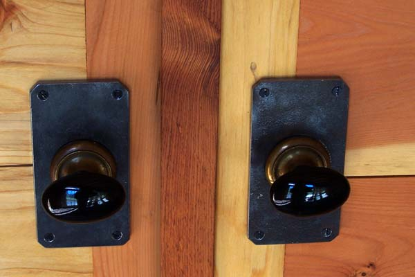 custom door knob detail
