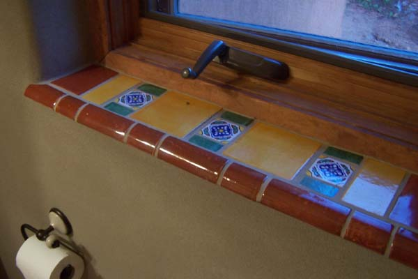 Mexican Tile Sill Earthen Touch Natural Builders