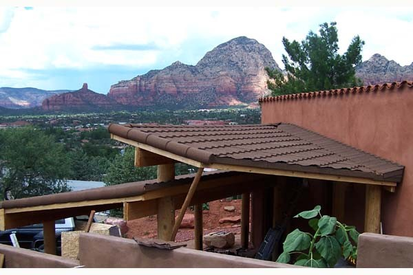 Adobe Home Landscaping And Carport Sedona Archives