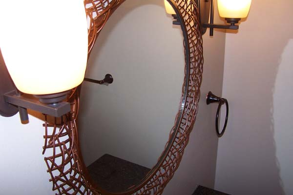 Copper Framed Mirror Earthen Touch Natural Builders