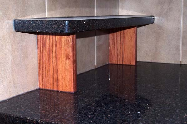 small decorative tub shelf