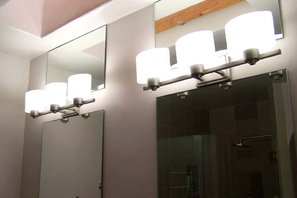 mirror above and below light