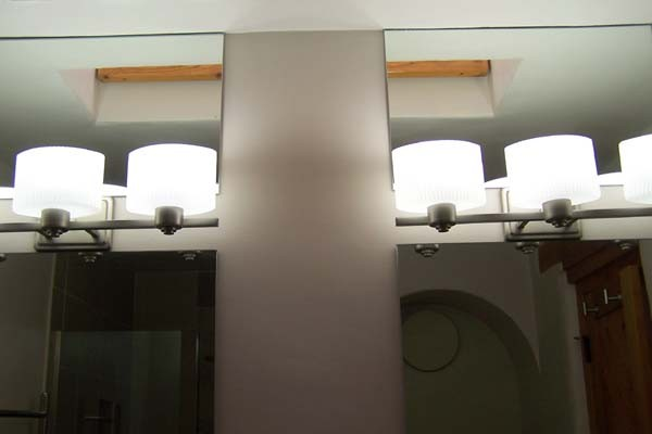 double mirror in master bathroom
