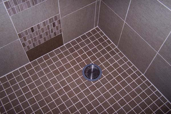 shower pan mosaic tiles
