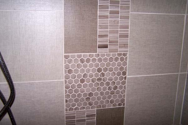 polished stone mosaic tiles