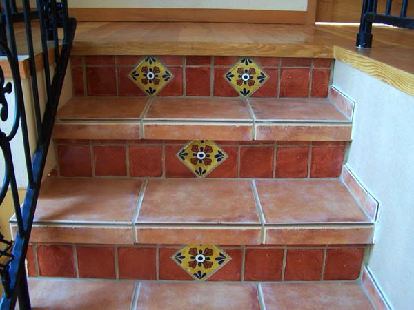 Mexican Tiled Risers