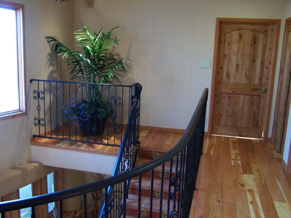 upstairs landing in adobe home