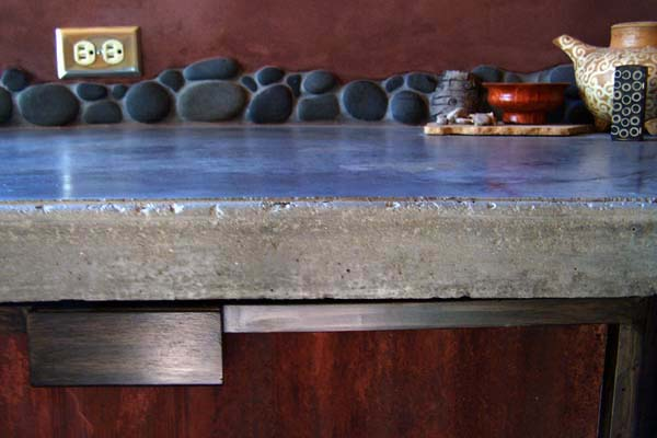 rustic cement counter top
