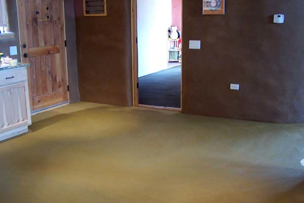 gold tinted earthen floor