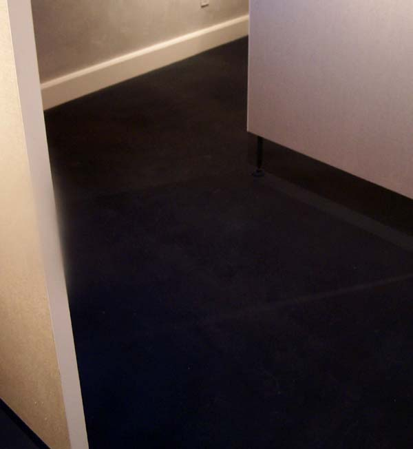 earthen floor tinted dark blue