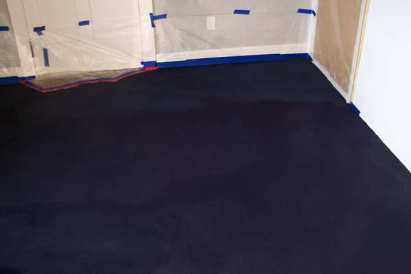 floor tinted with dark blue aliz