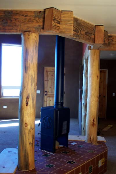 custom notched timber beams