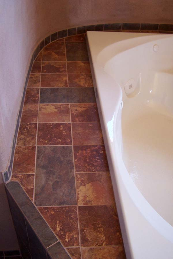 tile detail jacuzzi nook