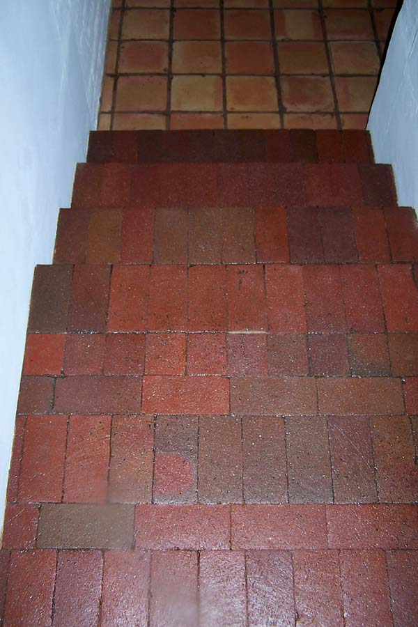 brick stairs refinished