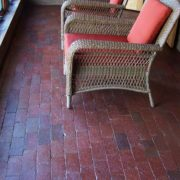 brick flooring sun room